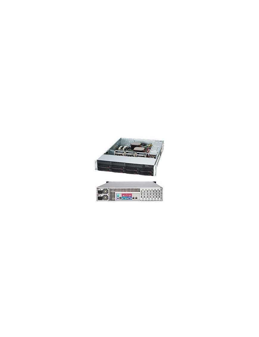 Supermicro SuperChassis 825TQC-R1K03LPB Rack Black 1000 W