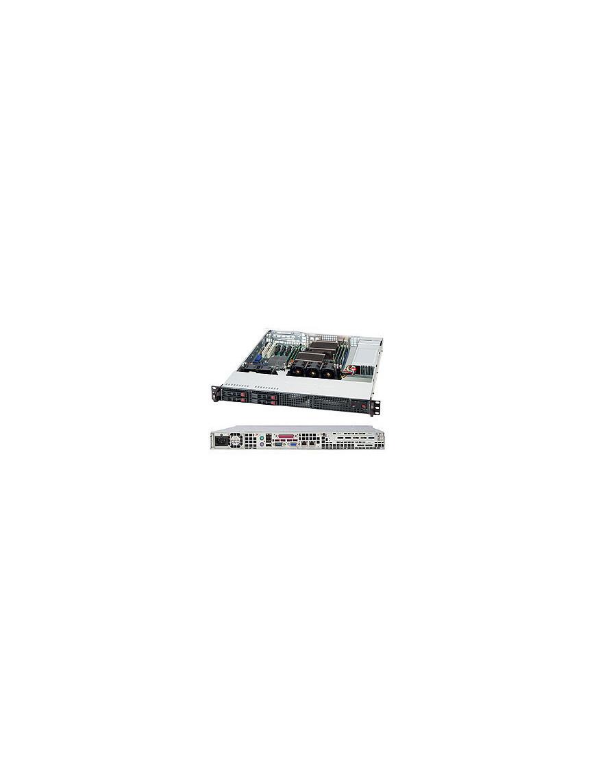 Supermicro SuperChassis 111TQ-600CB Rack Black 600 W