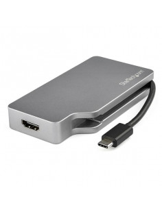StarTech.com USB C Multiport Video Adapter w  HDMI, VGA, Mini DisplayPort or DVI - USB Type C Monitor Adapter to HDMI 2.0 or