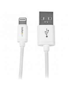 StarTech.com 1 m (3 ft.) USB to Lightning Cable - iPhone   iPad   iPod Charger Cable - High Speed Charging Lightning to USB