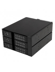 StarTech.com 3 Bay Aluminum Trayless Hot Swap Mobile Rack Backplane for 3.5in SAS II SATA III - 6 Gbps HDD