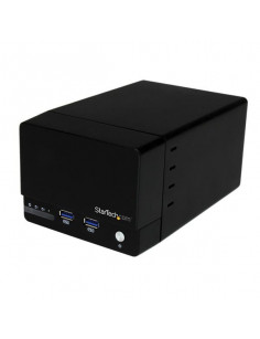 StarTech.com USB 3.0 Dual 3.5in SATA III Hard Drive RAID Enclosure with Fast Charge USB Hub & UASP
