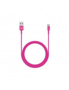 XLayer 214100 USB cable 1 m 2.0 Micro-USB A USB A Pink