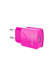XLayer 214114 mobile device charger indoor Pink